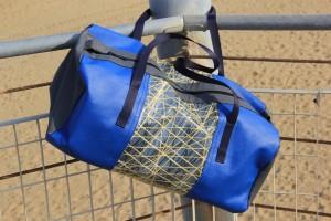 Bolina Sail - Borsone in vela laminato kevlar-carbonio e skai-blue