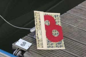 Bolina Sail - Cartellina porta documenti A4 in laminato kevlarcarbonio con numero 8