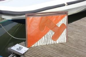 Bolina Sail - Cartellina porta documenti A4 in vela laminato carbonio e pelle con numero 1